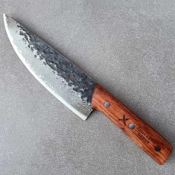 Couteau de chef damas forgé