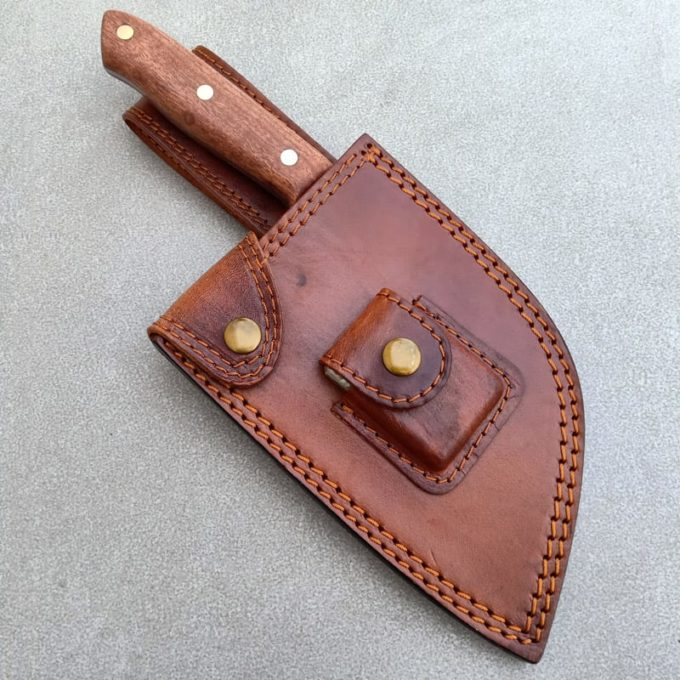 Leather sheath for Serbian knife
