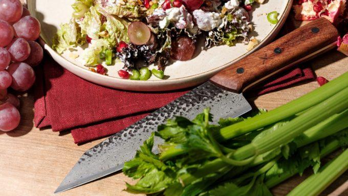 damascus kiritsuke and fruit salad