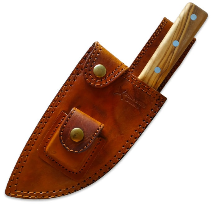 leather sheath for stainless serbian knife